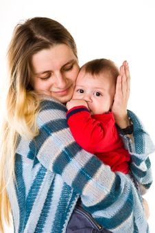 Free Adorable Baby Boy With Mother Royalty Free Stock Photo - 13857165