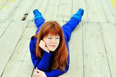 Cunning Redheaded Girl Royalty Free Stock Photography