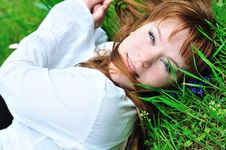 Free Girl On The Meadow Royalty Free Stock Photography - 13857527