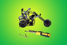 Toy  Motorbike Stock Photos