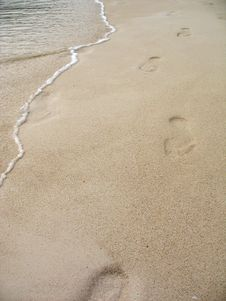 Free Footprints Royalty Free Stock Images - 13857809
