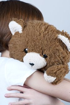 Free Young With Teddy Bear Royalty Free Stock Images - 13858059