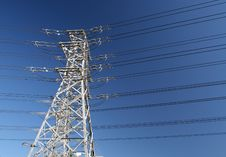 Free A Power Line Tower Royalty Free Stock Photo - 13858065