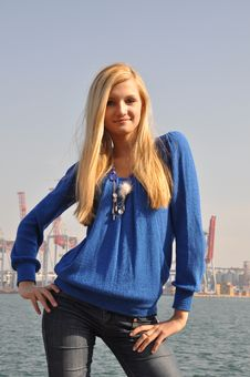 Free Blond On The Sea Coast Stock Image - 13858861