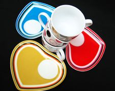 Free Designer Cups And Saucers Stock Image - 13859161