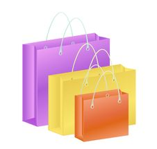 Free Glamour Shopping Bag Royalty Free Stock Photo - 13859445