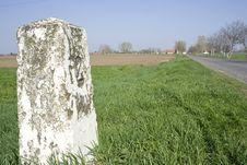 Free Kilometer Stone Royalty Free Stock Photos - 13859768