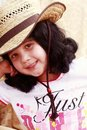 Free Little Girl In Cowboy Hat Stock Photography - 13862022