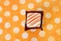 Free Petite Four On Polka Dot Background Stock Photos - 13864103