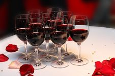 Free Table With Wine Stock Images - 13860054