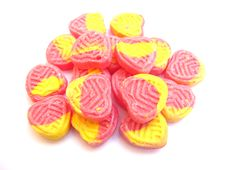 Free Pink And Yellow Sugar Candies Stock Image - 13860601