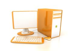 Free Computer Over White Background Royalty Free Stock Photo - 13860915