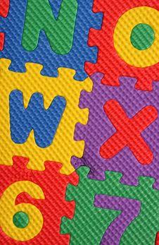 Free Alphabet And Number Blocks Stock Image - 13861051