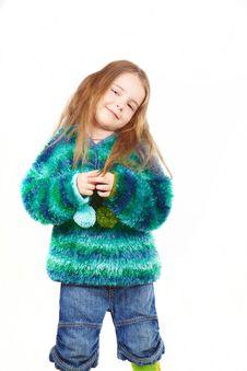 Free Happy Girl In Fur Coat Royalty Free Stock Photo - 13861485