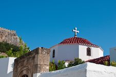 Free Greek Church Royalty Free Stock Photos - 13861748
