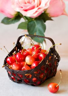 Free Fresh  Cherries Royalty Free Stock Images - 13862559