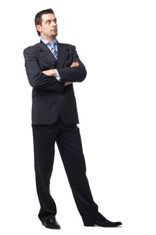 Businessman Standing With Folded Hands. Stock Image