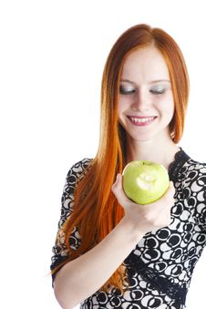 Free Apple In Hands Of The Girl Royalty Free Stock Photos - 13863128