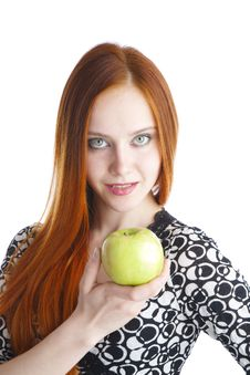 Free Apple In Hands Of The Girl Stock Image - 13863141