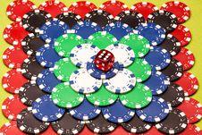 Free Casino Chips Background Stock Image - 13863311