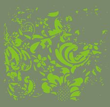 Free Green Floral Background Royalty Free Stock Photos - 13863478