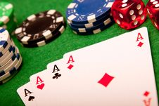 Free Casino Cards Background Stock Photography - 13863572