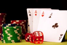 Free Casino Concept Background Stock Photography - 13863622