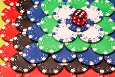 Free Casino Chips Background Royalty Free Stock Photo - 13863655