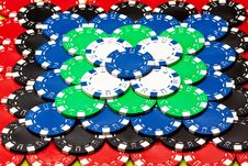 Free Casino Chips Background Royalty Free Stock Photo - 13863665