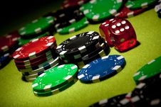 Free Casino Chips Background Stock Photography - 13863712