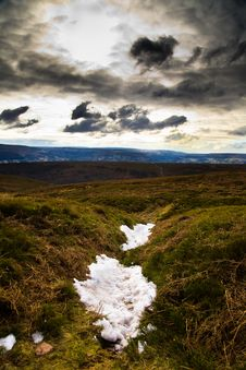 Free Snow On Moor Royalty Free Stock Image - 13863946