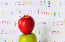 Free Abc Stacked Apples Stock Photo - 13864110