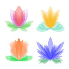 Free Stylized Flowers Royalty Free Stock Photography - 13865017