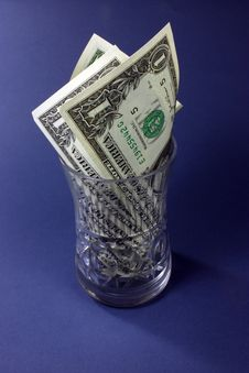Dollars In The Vase Royalty Free Stock Photo