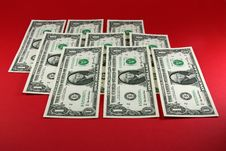Free One-dollar Banknotes A Pile Royalty Free Stock Image - 13865826