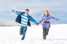 Free Young Pair Royalty Free Stock Photo - 13867005