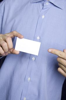 Free Business Man Holding Blank Card Stock Photography - 13867402