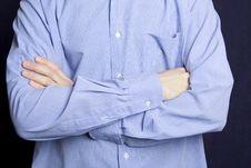 Free Man Folding Arms Stock Image - 13867471