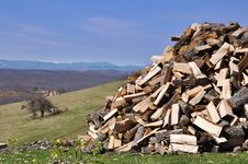 Free Woodpile Royalty Free Stock Photography - 13867507