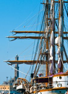Sailing Ship Moored Stock Images