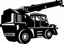 Free Illustration Of A Rough Terrain Crane Royalty Free Stock Photography - 13869877