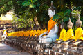 Free Buddha Statues At The Temple Of Wat Yai Chai Mongk Royalty Free Stock Photos - 13871678