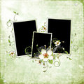 Free Green Spring Frame With Apple Tree Flowers Royalty Free Stock Image - 13876736