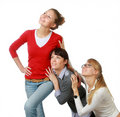 Free Three Girls-girl-friends Royalty Free Stock Images - 13877219