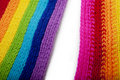 Free Bright Rainbow Knitted Scarf Stock Photos - 13879573