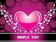 Free Shiny Pink Heart,  Illustration Royalty Free Stock Photography - 13870277