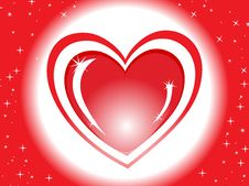 Free Red Shiny Heart With Love Illustration Royalty Free Stock Images - 13870289