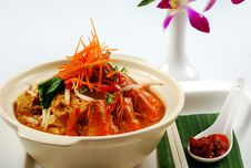 Prawn Curry Noodles Stock Image
