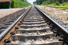 Free Down Petchburi Railway Royalty Free Stock Photography - 13871307