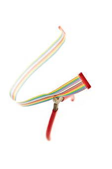 Free Ribbon Cable And Wire Cutters Royalty Free Stock Photography - 13871767